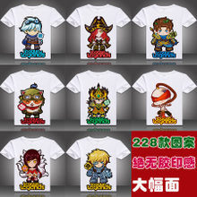 Heroes League T-shirt, Short Sleeve Lol T-shirt for Men and Women, Teenagers LOL Clothes, Summer Clothes, Animation Game Circumference