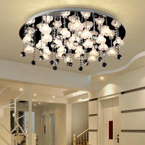 简约现代led吸顶灯卧室灯花朵灯客厅灯餐厅灯书房次卧灯具灯饰