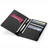 MODERN passport holder multi-function certificate bag leather passport bag air ticket passport holder metal pen from Korea