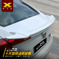 Ten generation civic rear wing Honda new Civic special fixed wing car tail free punching pressure lossless modification