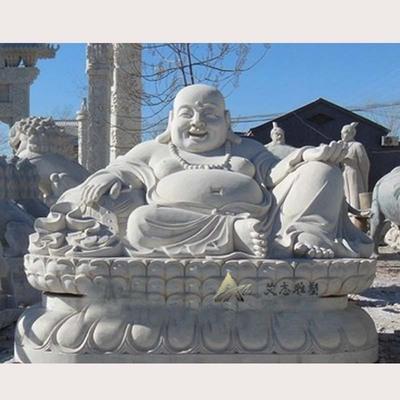 弥勒佛石雕 曲阳雕刻寺院用品可定做 汉白玉弥勒佛 石材佛像定做
