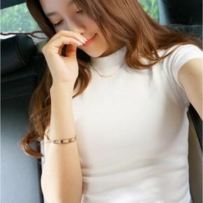 包郵夏季新款修身女士t恤 韓版小高領萊卡棉緊身T純色短袖打底衫