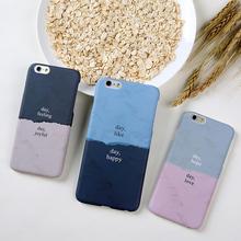创意iphone6s plus磨砂套情侣半包硬外壳 简约拼色苹果6手机壳个性