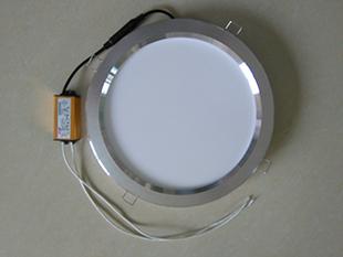 照明 集成吊顶浴霸取暖器中间圆灯8寸LED平板灯卫生间厨房四灯暖