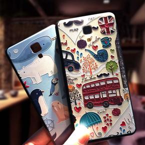 小米4手机壳 小米4保护套防摔硅胶全包边日韩简约男女款卡通可爱