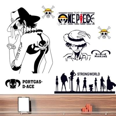 海贼王墙壁贴纸路飞墙贴卧室床头装饰品卡通动漫墙画背景墙上贴画最新最全资讯