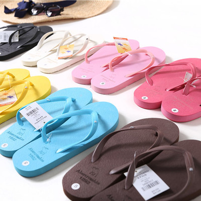 新款欧美时尚情侣平跟拖鞋女夏季防滑凉拖鞋男女纯色托鞋人字拖