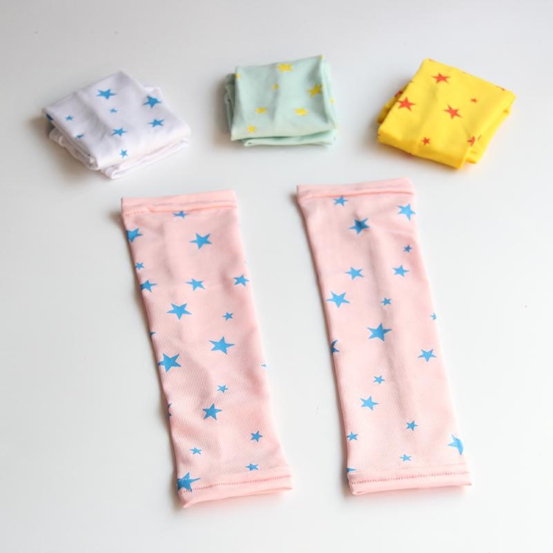 夏季儿童冰袖女宝宝防晒袖套卡通可爱长款防紫外线男童护袖小孩子