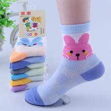 5 pairs of spring, summer and autumn thin cotton cartoon socks for children 1-3-6-10 years old pure cotton socks for boys and girls
