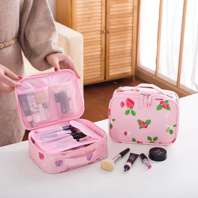 少女化妆包品大容量多功能迷你化妆袋韩国简约便携小号口红收纳包
