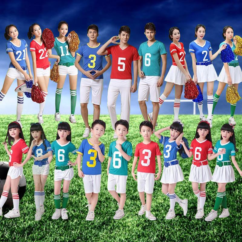 小学生啦啦队服装新款运动会六一儿童演出表演幼儿园套装足球宝贝