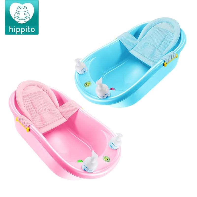 婴儿洗澡盆新生幼儿可坐躺宝宝沐浴盆0-6岁儿童大号超大小孩加厚