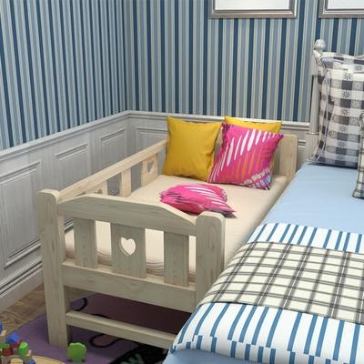简易童床护栏实木单人床加长加宽大人床松木床架公主床宝宝拼接床正品折扣