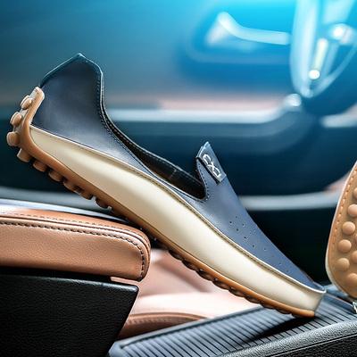 夏季男士加大码男鞋47豆豆鞋46休闲皮鞋45码皮鞋特大号男鞋驾车鞋