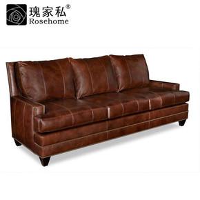 瑰家私高端定制客厅家具美式乡村现代实木布艺双三人沙发L-0285-3