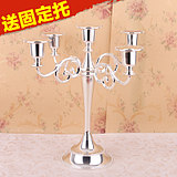 Five three European candlestick wedding props hotel candlelight dinner home decoration club candlestand