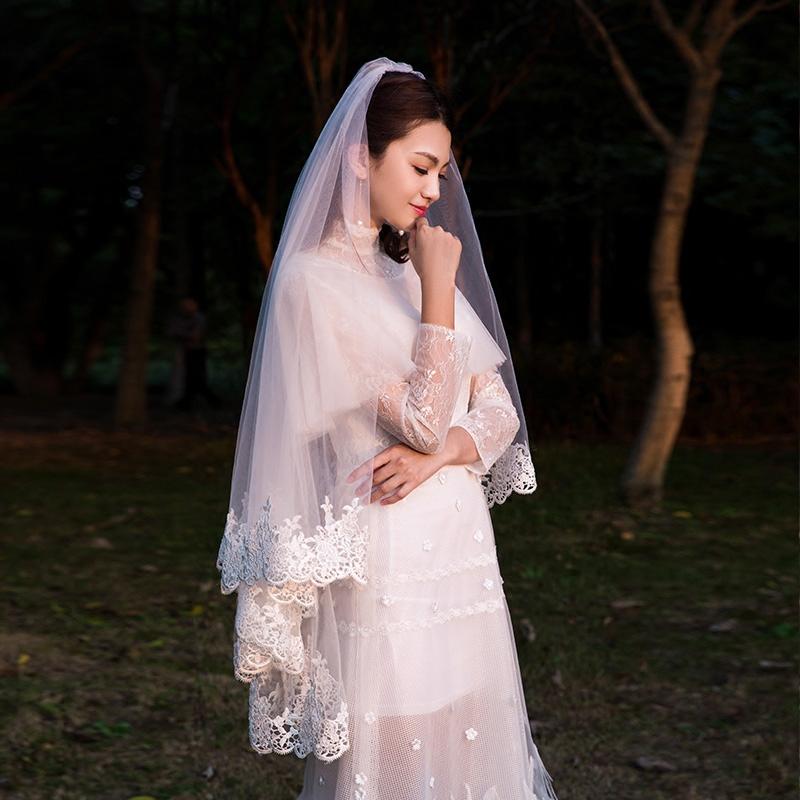 韩式白色头纱