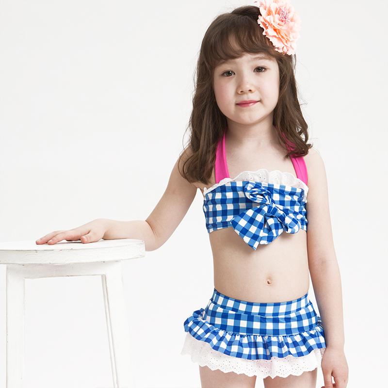儿童泳衣女童泳装婴儿宝宝比基尼分体公主可爱游泳衣速干5元优惠券
