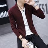 男士针织衫开衫外套春季2017新款韩版潮流春秋季帅气薄款休闲毛衣