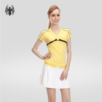 卡金2018新款显瘦羽毛球服短袖网球服女款套装速干透气网球裙夏季