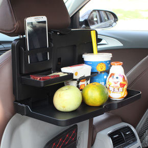 舜威汽车用品椅背置物架车用多功能饮料水杯架车载后排可折叠餐桌