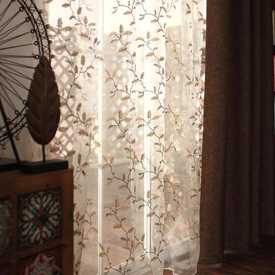 窗帘美式乡村纯色多少钱