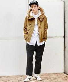 日本流行品牌经典款式连帽棉衣加绒外套改良N3B N2B卡其街头潮牌