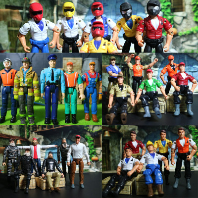 军事3.75寸兵人1:18超可动人偶特种部队现代兵人模型拼装玩具小人