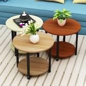 现代简约创意沙发边几角几小茶几咖啡圆桌客厅卧室小茶桌 包邮图片