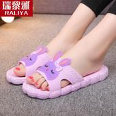 女夏室内居家用厚底防滑浴室洗澡软底韩国可爱卡通凉拖男夏天 拖鞋