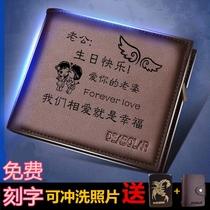 七夕情人节礼品亲手做个钱包送给他DIY手工缝制意大利雾蜡皮
