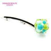 韩国进口GRAIN de BEAUTE/Aznavour冰块球球方块顶夹边夹发卡发夹