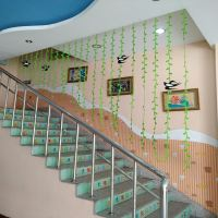 Kindergarten decoration classroom class environment layout mall shop aerial pendant hanging leaves wicker swallow