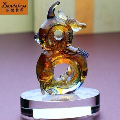 班德拉斯送姐姐的结婚礼物创意定制新婚礼品客厅葫芦摆件琉璃鸟