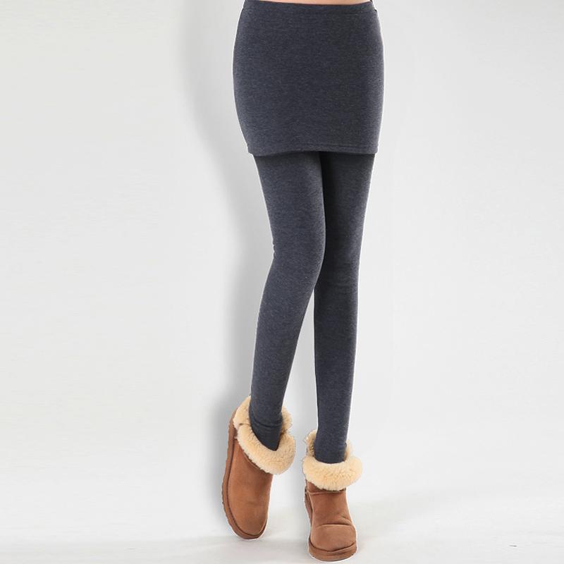 加厚踩脚打底裤裙