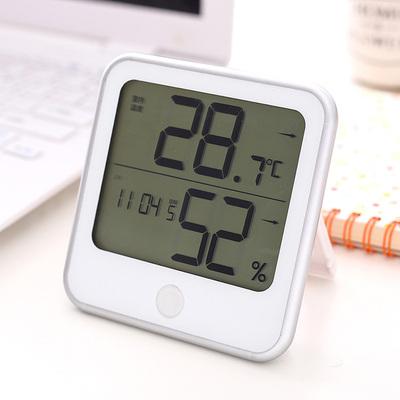 得力电子温湿度计 家用/办公室内电子温湿度计 带闹钟温度计