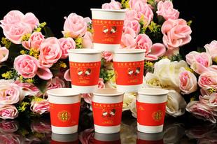 婚庆用品纸杯结婚纸杯喜庆纸杯卡通纸杯一次性红水杯茶杯婚宴批发