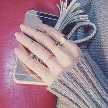个性大气日韩版十件套简约甜美关节戒指女潮人韩国气质指环戒食指