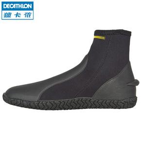迪卡侬沙滩潜水靴水母鞋成人男女水上活动鞋高帮防滑礁石鞋SUBEA