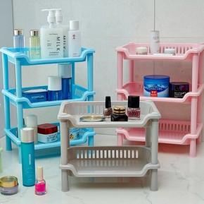 浴室置物架卫生间层架落地储物架杂物整理架大小号塑料厨房收纳架
