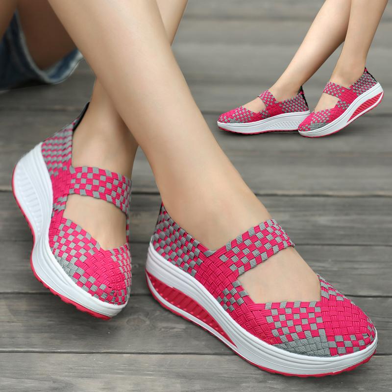 编织厚底单鞋