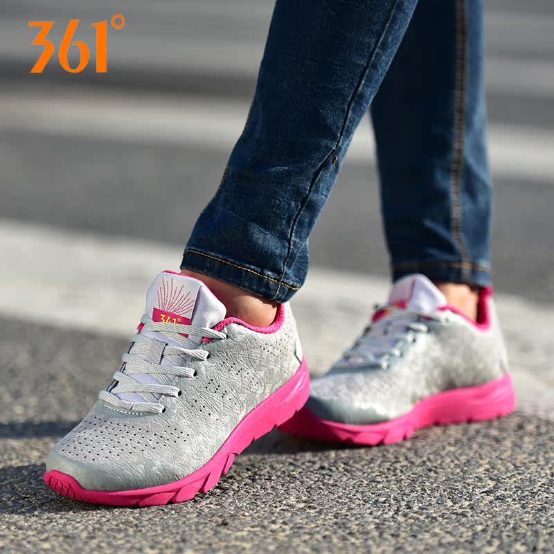 361度运动鞋2016秋季新款女跑鞋361女鞋正品轻便透气跑步鞋休闲鞋