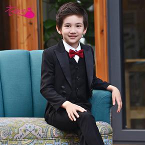儿童西装主持人燕尾服男童演出服装套装花童礼服男孩钢琴表演西服