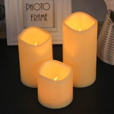 七夕情人節圓柱LED生日求婚表白大號波浪口電子蠟燭燈 酒吧裝飾