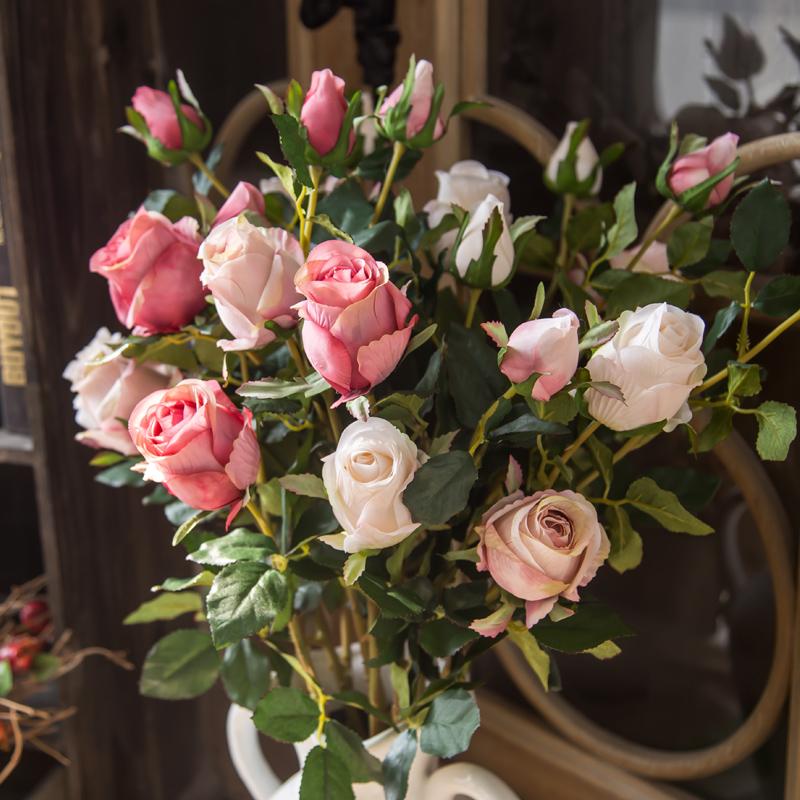 装饰花仿真花客厅美式