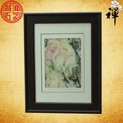 天然大理石画 《花开富贵》 挂屏 家居办公屏风 精品
