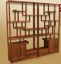 中式仿古实木博古架多宝阁 古董架展示架 榆木 实木家具 明清古典