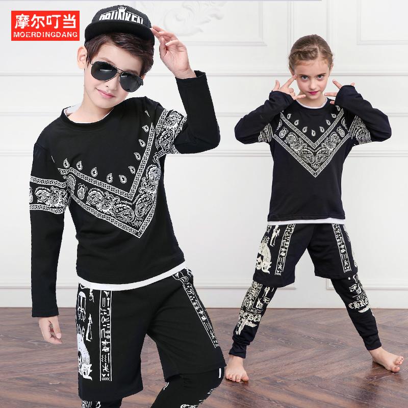 儿童演出服夏季少儿街舞爵士舞hiphop舞蹈表演服装男童幼儿表演服3元优惠券