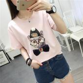 宽松大码 休闲百搭圆领短袖 夏季2018新款 韩版 T体恤女装 时尚 上衣