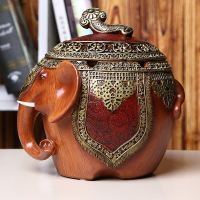 Practical household daily necessities gifts elephant ornaments Chinese personality fashion creative large ashtray with lid ornaments